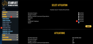 DB Affiliation Screenshot